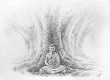 """<strong>Budhha </strong> Ilustrace ke knize <a href=""""http://www.stromyazivot.cz/tajemstvi-sila-slova.html"""">TAJEMSTVÍ A SÍLA SLOV</a>"""