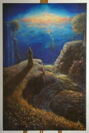 <strong>Druhý břeh</strong> rozměr: 60 x 90 cm ekologický pigmentový tisk na plátno cena : 1490 kč