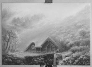 <strong>Tajné místo</strong> rozměr: 70 x 55 cm ekologický pigmentový tisk na plátno cena : 1250 kč